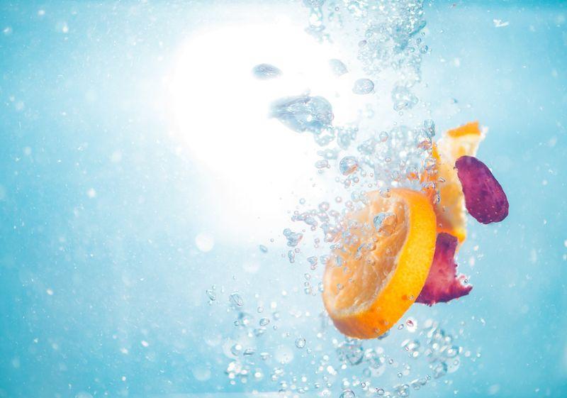 fruit in water