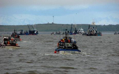 Fishing boats on bay