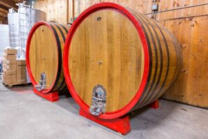 Big wine barrels