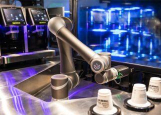 Robot serving coffee