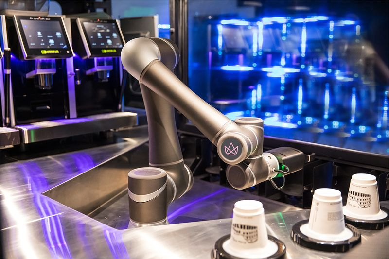 Robot serving coffee
