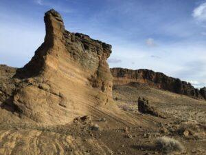 Giant rock in volcano
