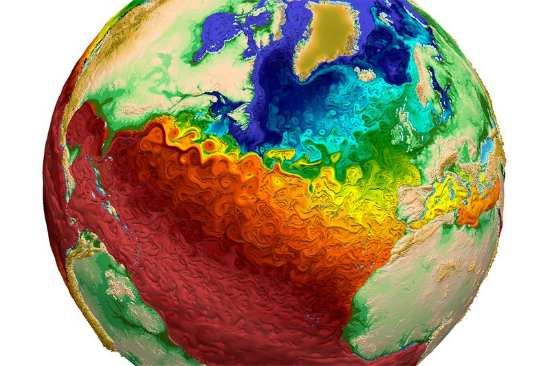 Colorful earth model